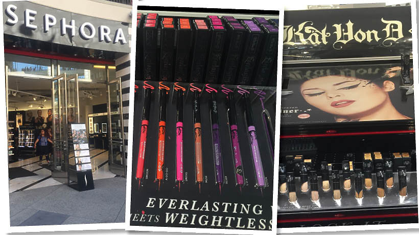 Sephora w Hollywood i kosmetyki Kat Von D Beauty