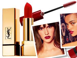 trend: czerwony kolor w makijażu