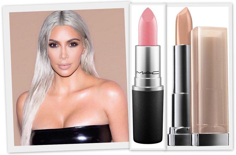 ulubione szminki kim kardashian mac, maybelline