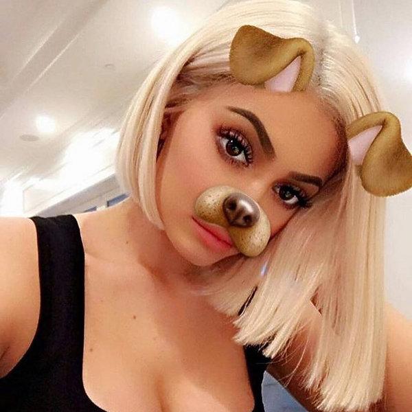 medycyna estetyczna filtry do zdjęć, Kylie Jenner