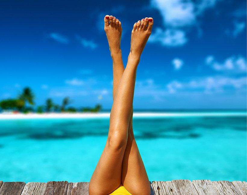 nogi depilacja
