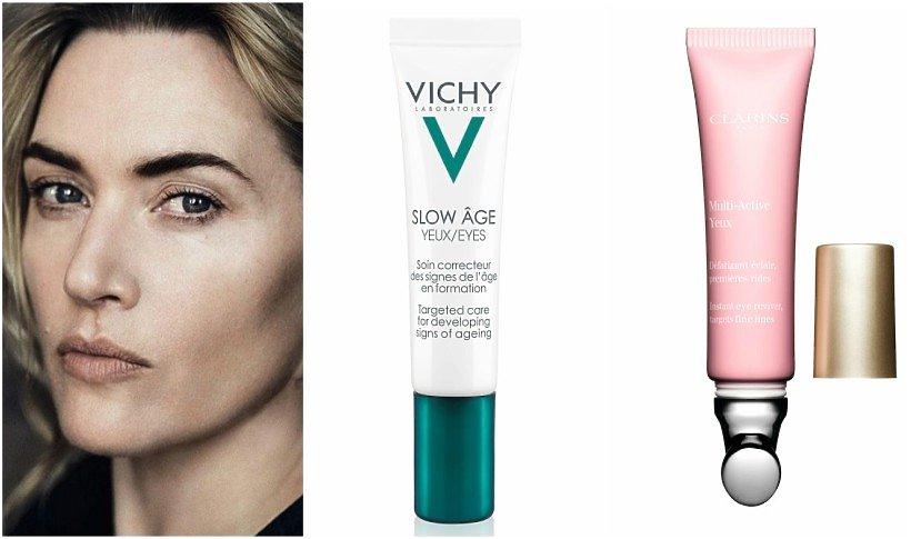 Kate Winslet, krem pod oczy Vichy, krem pod oczy Clarins