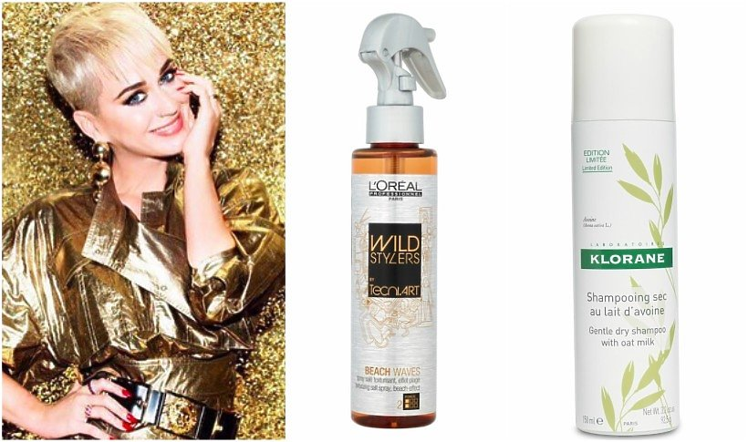 Katy Perry, spray teksturyzujący L'Oreal Professionnel, suchy szampon Klorane