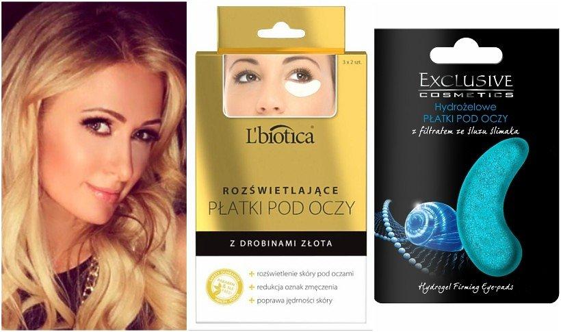 Paris Hilton, płatki pod oczy L'Biotica, płatki pod oczy Exclusive Cosmetics