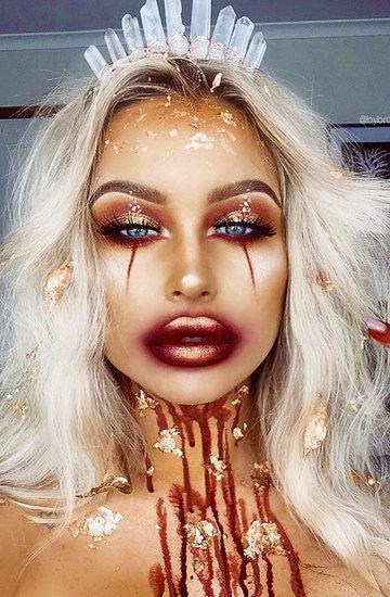 straszny makijaż halloween