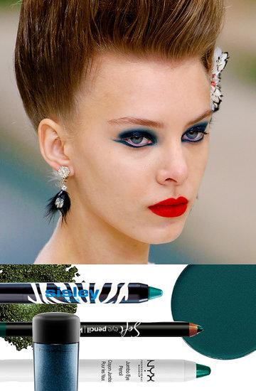 szmaragdowy makijaż z pokazu Chanel