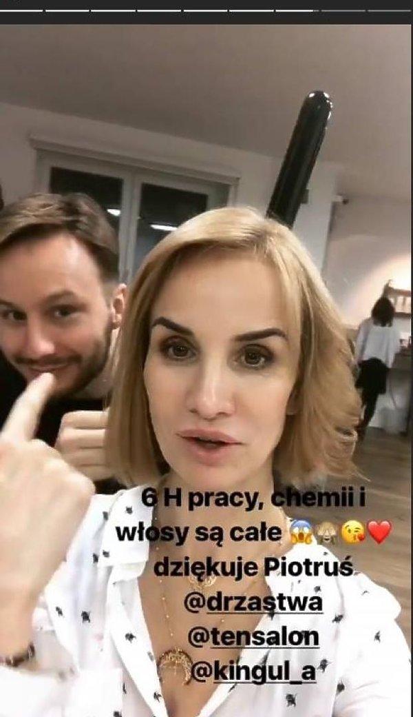 Viola Kołakowska w blondzie