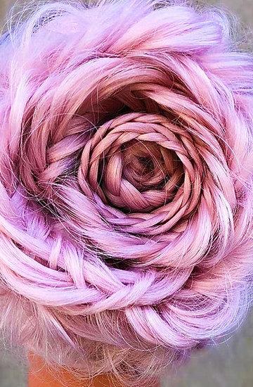 warkocz w kształcie róży