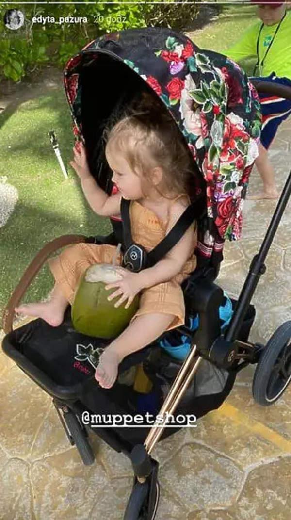 Wózek córeczki Edyty Pazury