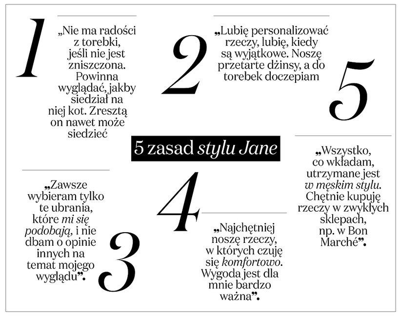 Zasady stylu Jane Birkin