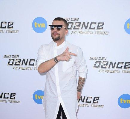 Michał Piróg na konferencji programu You Can Dance