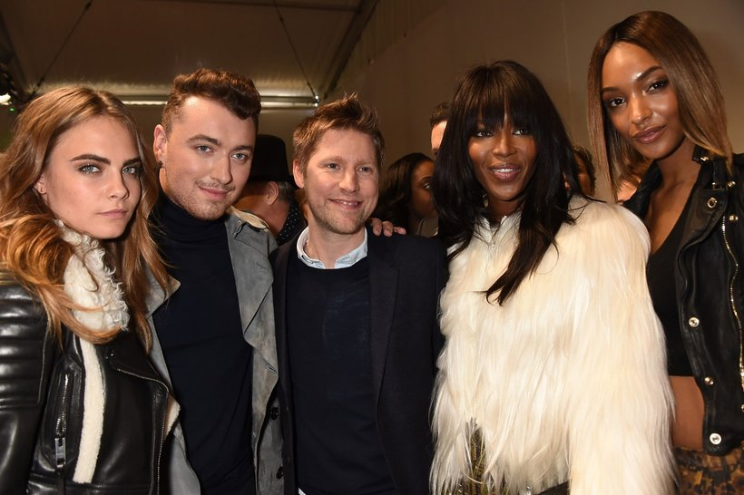 Christopher Bailey, Cara Delevigne, Noami Campbell, Sam Smith, Jourdan Dunn