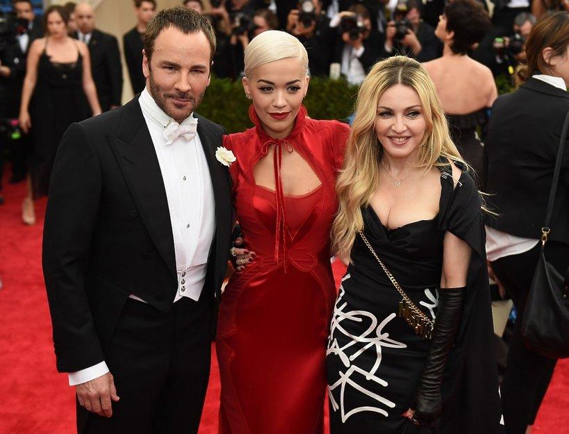 Tom Ford, Rita Ora, Madonna na Met Gala 2015