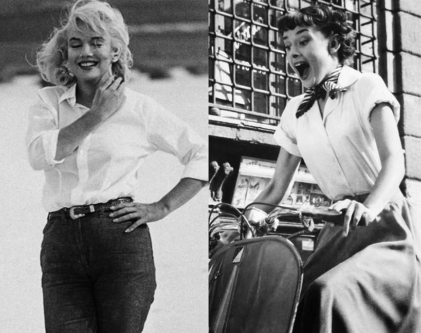 jakie-koszule-lubily-nosic-Marylin-Monroe-Audrey-Hepburn