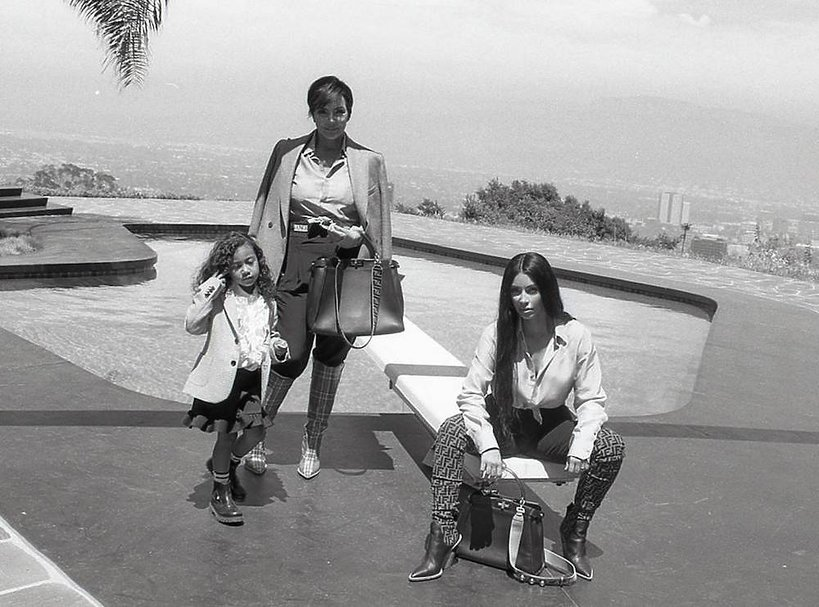5-letnia córka Kim Kardashian North West w reklamie Fendi