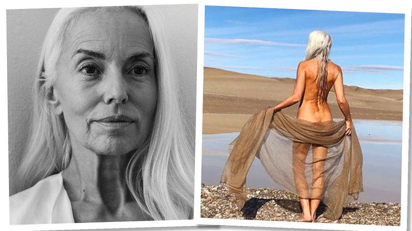 61-letnia modelka reklamuje kostiumy kąpielowe