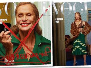 "73-letnia Lauren Hutton na okładce ""Vogue'a"""