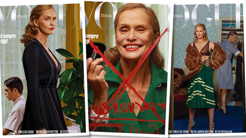 "73-letnia Lauren Hutton na okładce ""Vogue'a""- MAIN TOPIC"