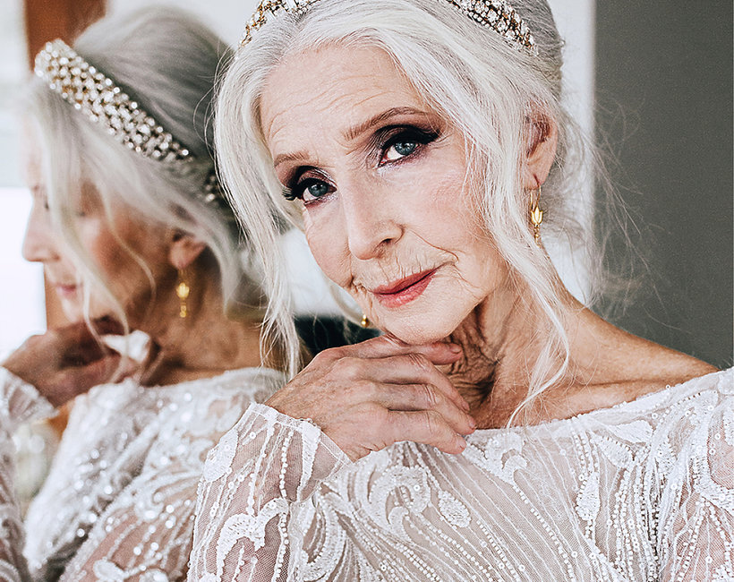 85-letni Helena Norowicz w kampanii sukien ślubnych  Laurelle na sezon 2019/2020