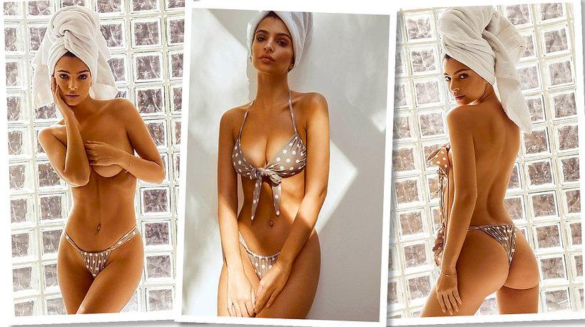 A-Emily Ratajkowski i jej marka z kostiumami kąpielowymi