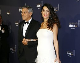 Amal Clooney stylizacja na czerwonym dywanie