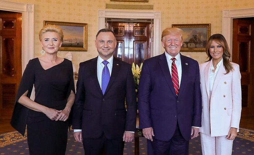 Andrzej Agata Duda w Białym Domu