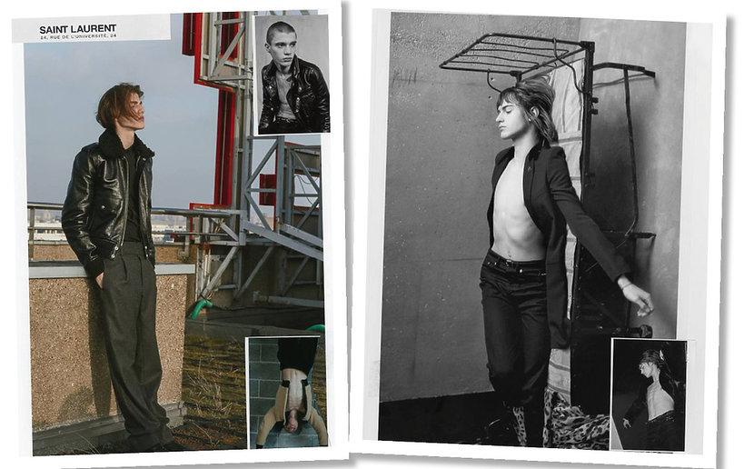 Anja Rubik w najnowszej kampanii Saint Laurent
