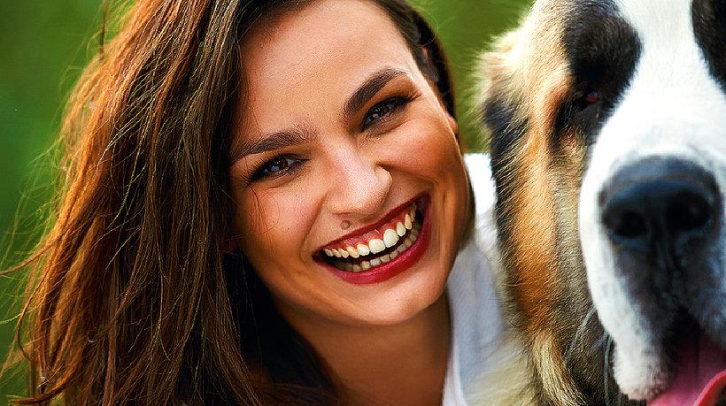 Anna Starmach z psem