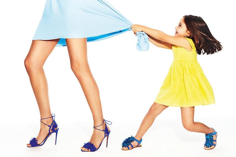 Aquazzura zaprojektowała buty dla małych dziewczynek