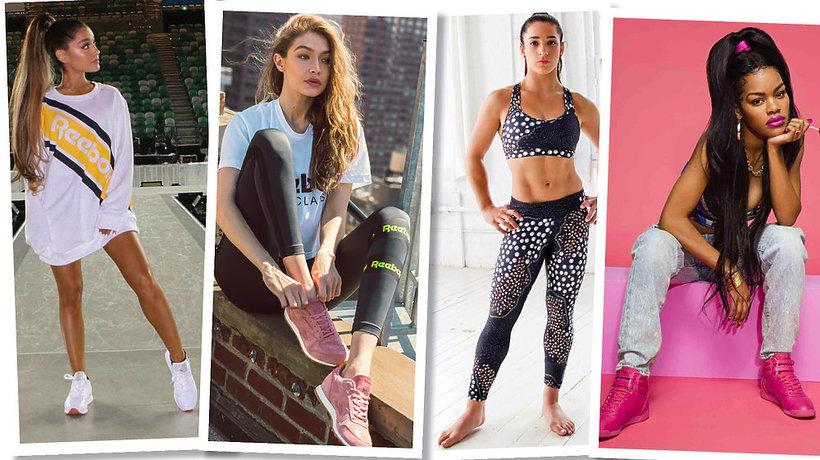 Ariana Grande, Gigi Hadid, Aly Raisman,Teyana Taylor  ambasadorki marki Reebok