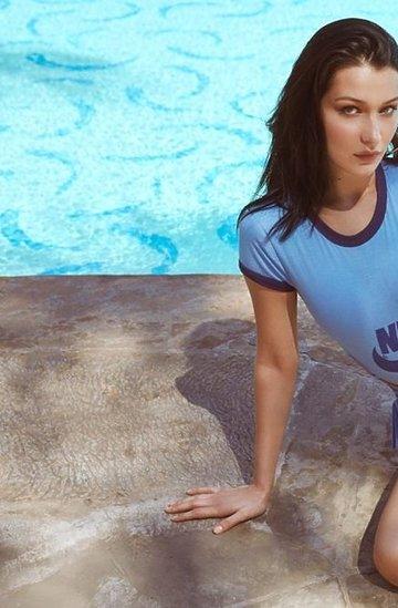 Bella Hadid  w reklamie Nike z okazji 45. urodziny butów Cortez