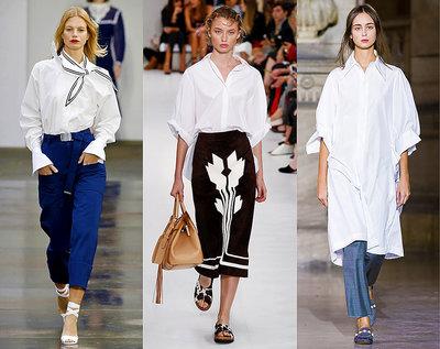 Biała koszula na wiosnę 2018, trendy 2018