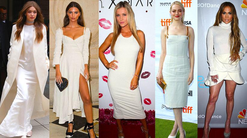 Biały total look najmodniejszy trend jesieni