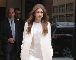 Biały total look najmodniejszy trend jesieni, Gigi Hadid
