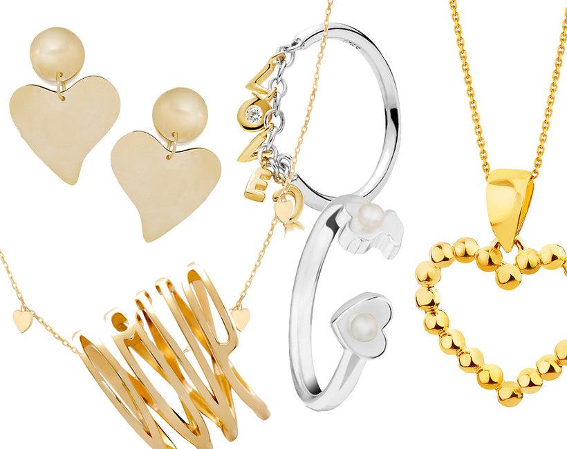 Biżuteria z motywem serca na walentynki 2019