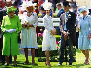 Brytyjska rodzina królewska na wyścigach w Ascot