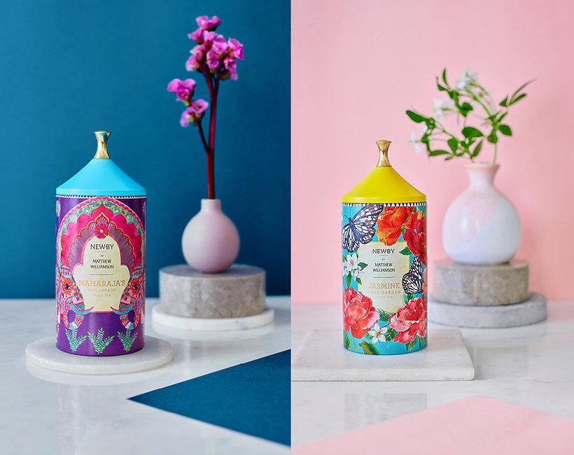 Brytyjski projektant Matthew Williamson stworzył kolekcję herbat dla Newby Teas