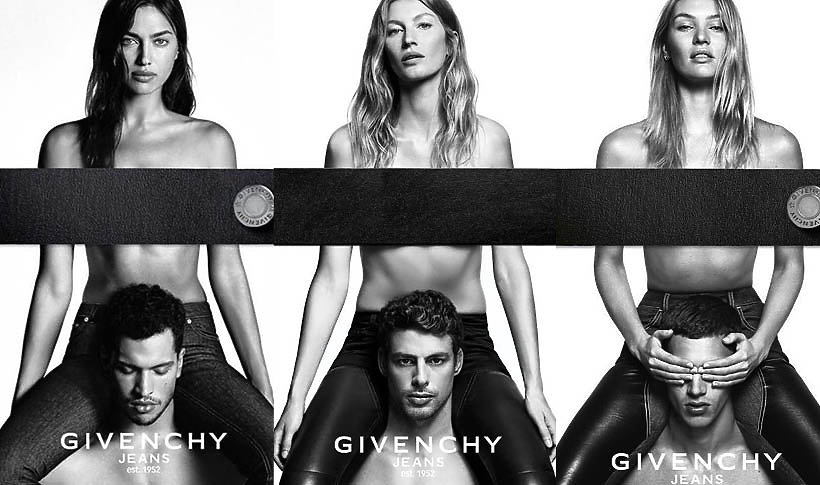 Candice Swanepoel, Irina Shayk i Gisele Bündchen w kampanii Givenchy Jeans
