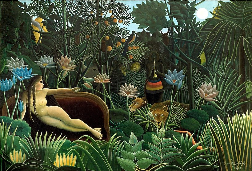 "Celnika Henri Rousseau obraz ""Sen"", ""Le Rêve"" 1910 rok"
