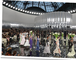 Chanel scenografie na pokazach