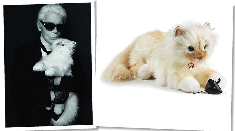 Choupette kotka Karla Lagerfelda jako pluszowa maskotka