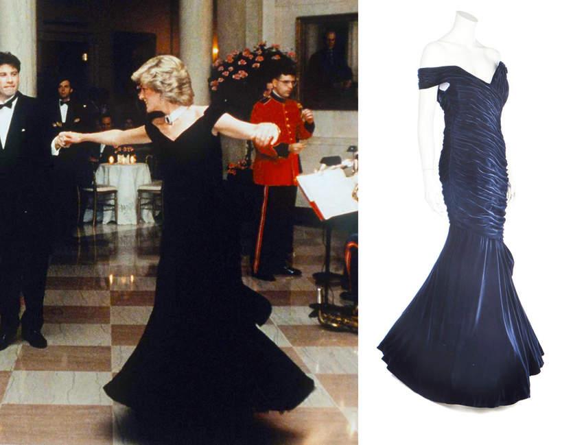 ciemnoniebieska suknia księżnej Diany ma niezwykłą historię
