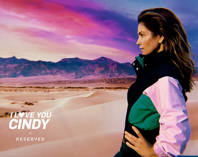 Cindy Crawford w reklamie Reserved