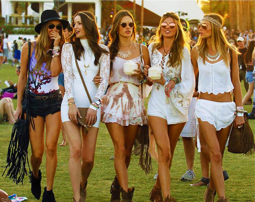 Coachella stylizacje gwiazd