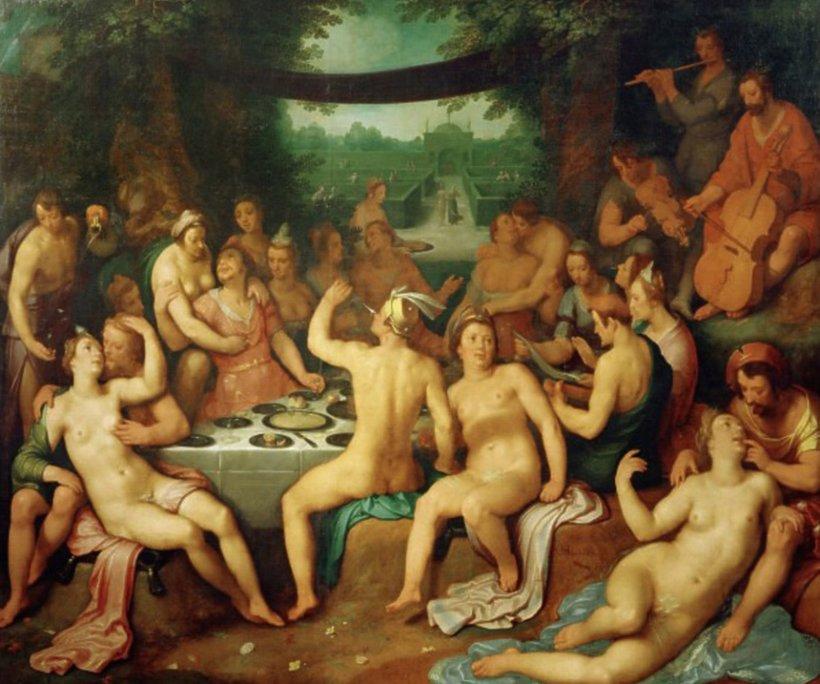 """Cornelis van Haarlem """"Bachanalia Cornelis van Haarlem """"Bachanalia"""