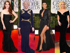 Czarne suknie na gali Złote Globy 2018