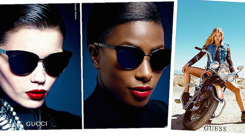 Czarnoskóra modelka odtwarza znane reklamy