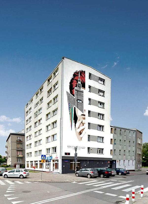 David Bowie mural w Warszawie