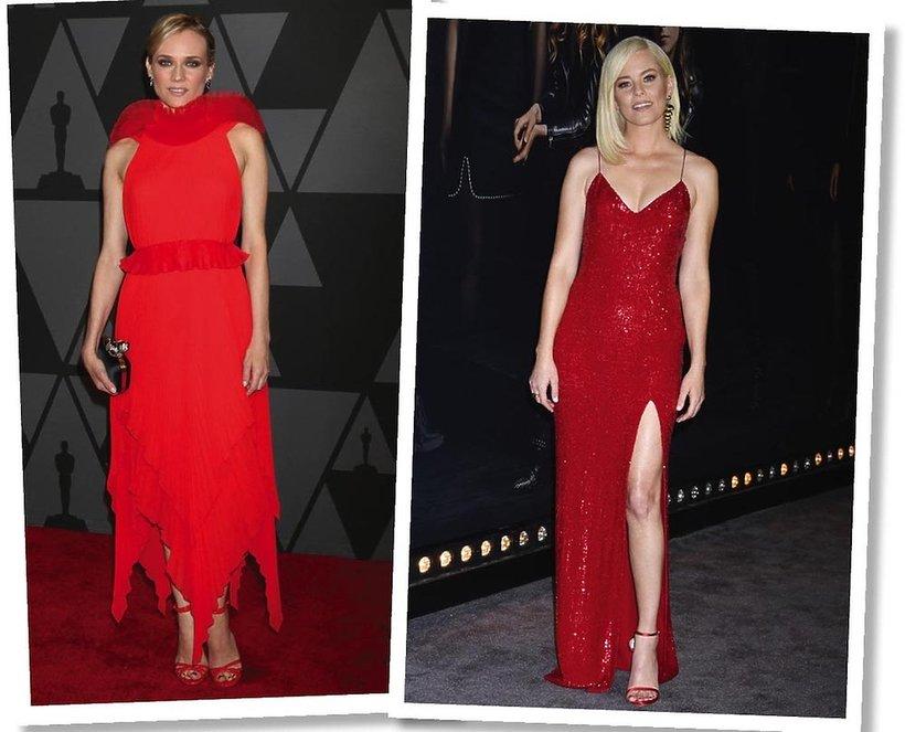 Diane Kruger, Elizabeth Banks w czerwonych sukniach na czerwonym dywanie