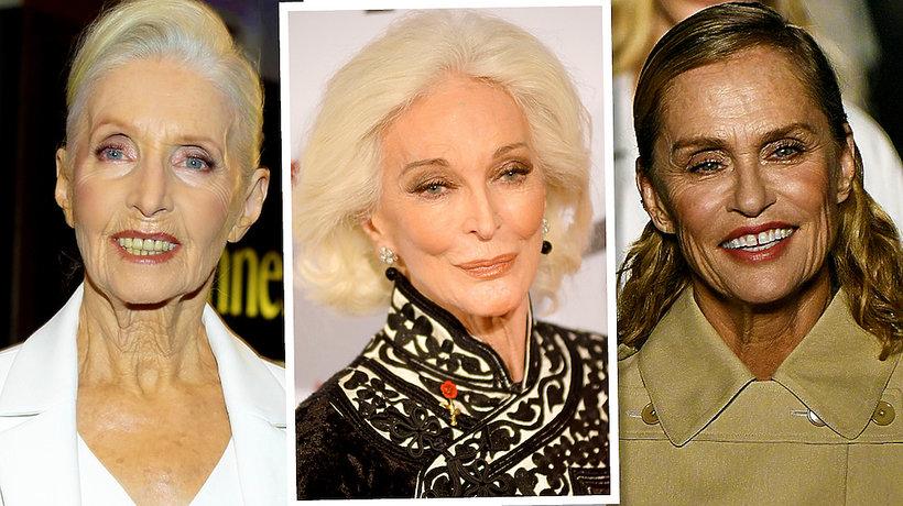 Dojrzałe modelki Helena Norowicz,  Carmen Dell'Orefice, Lauren Hutton